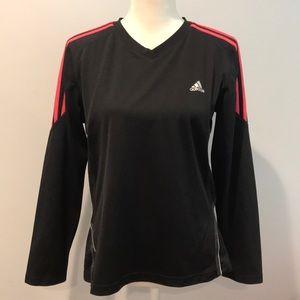 Adidas Long Sleeve V-neck Shirt - Size L